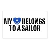 My Heart Belongs To A Sailor Decal