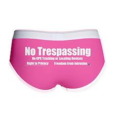 No Trespassing Women's Boy Brief