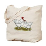 Orpington White Chickens Tote Bag