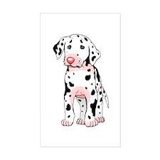 Dalmatian Puppy Cartoon Rectangle Sticker