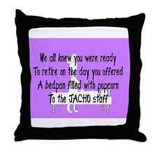 Retired Nurse Story Art Throw Pillow
