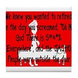 Retired Nurse Story Art Tile Coaster