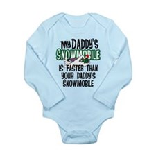 Daddy's Snowmobile Long Sleeve Infant Bodysuit