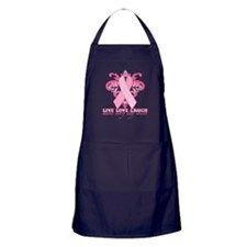 Everyday Pink Ribbon Apron (dark)