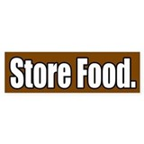 Store Food Bumper Bumper Sticker
