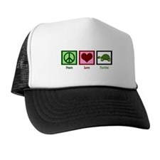 Peace Love Turtles Trucker Hat
