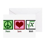 Peace Love Math Greeting Card