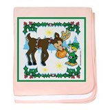 Christmas Elf & Reindeer Infant Blanket