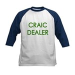 Craic Dealer Irish Humor Kids Baseball Jersey