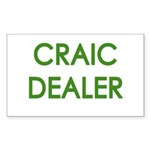 Craic Dealer Irish Humor Sticker (Rectangle 50 pk)