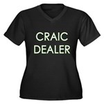 Craic Dealer Irish Humor Women's Plus Size V-Neck