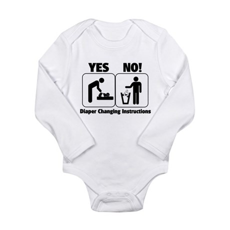 Diaper Changing Instructions Long Sleeve Infant Bo