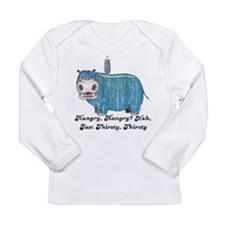 Thirsty, Thirsty Hippo Long Sleeve Infant T-Shirt