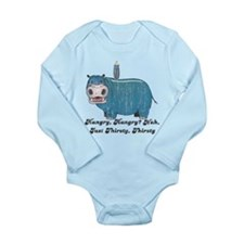 Thirsty, Thirsty Hippo Long Sleeve Infant Bodysuit