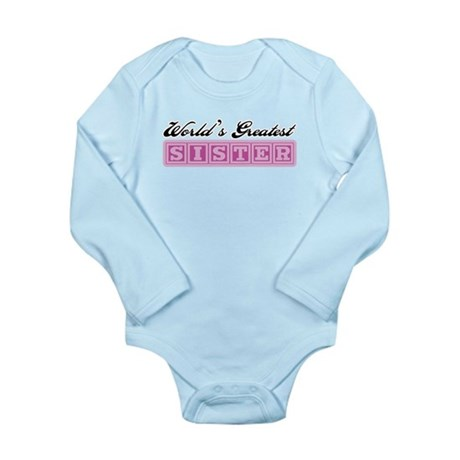 World's Greatest Sister Long Sleeve Infant Bodysui