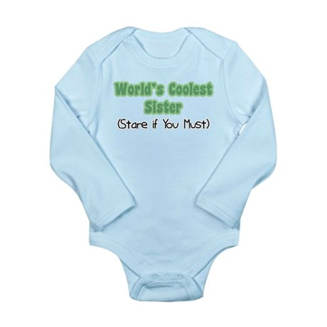 World's Coolest Sister Long Sleeve Infant Bodysuit