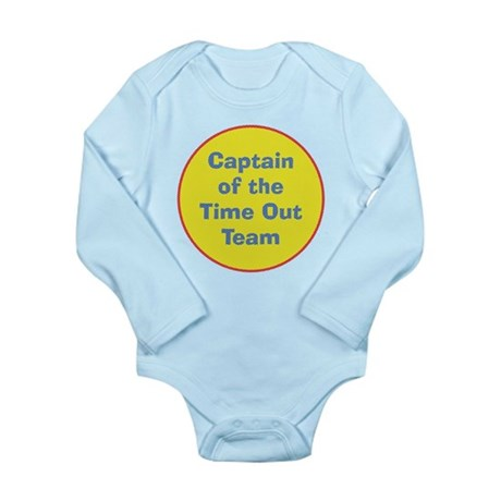 Time Out Team Captain Long Sleeve Infant Bodysuit
