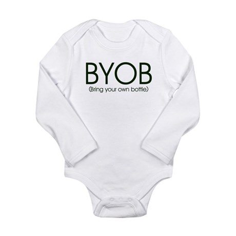 BYOB-bottlefeeding Long Sleeve Infant Bodysuit