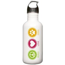 Peace - Love - Dogs 1 Water Bottle