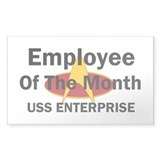 USS Enterprise Employee of th Decal