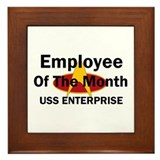 USS Enterprise Employee of th Framed Tile