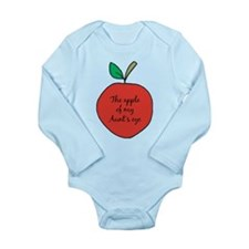Apple of My Aunt's Eye Long Sleeve Infant Bodysuit