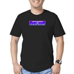 Drop The Teleprompter Men's Fitted T-Shirt (dark)