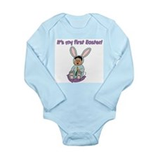 Easter Baby Dark Hair (1) Long Sleeve Infant Bodys