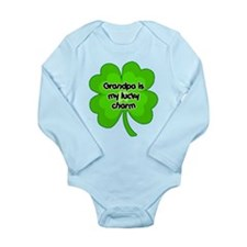 Grandpa is My Lucky Charm Long Sleeve Infant Bodys