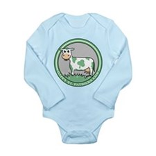 St. Patrick's Cow Long Sleeve Infant Bodysuit