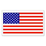 American Flag Rectangle Sticker