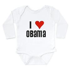 I Heart Obama Long Sleeve Infant Bodysuit