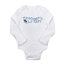 Trooper's Lil Girl Long Sleeve Infant Bodysuit