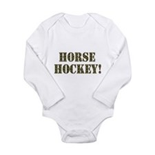 Horse Hockey Long Sleeve Infant Bodysuit