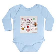 Cute Candy making Long Sleeve Infant Bodysuit