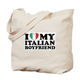 I Love My Italian Boyfriend Tote Bag