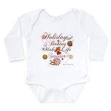 Holiday Baking Long Sleeve Infant Bodysuit