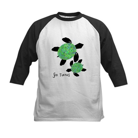 Sea Turtles Kids Baseball Jersey