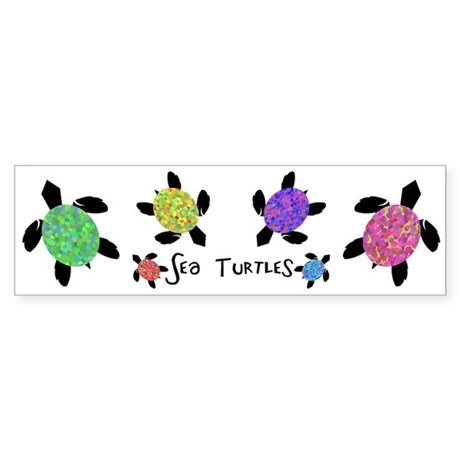 Sea Turtles Bumper Sticker