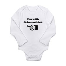 I'm With Schmendrick Long Sleeve Infant Bodysuit