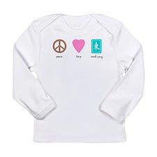 Peace Love Mahjong Long Sleeve Infant T-Shirt