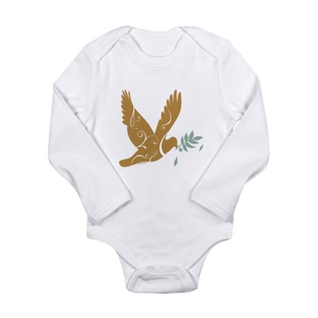 Golden Peace Long Sleeve Infant Bodysuit