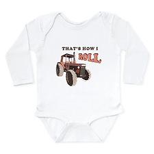 Farm Tractor Long Sleeve Infant Bodysuit