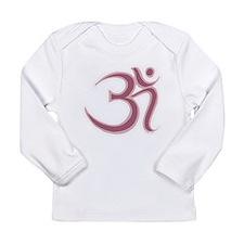 Pink Om/Aum Long Sleeve Infant T-Shirt