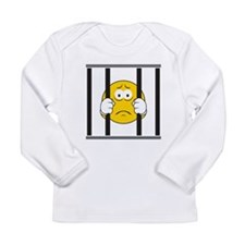 Prisoner Smiley Face Long Sleeve Infant T-Shirt