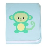 Cute Kawaii Green Monkey Infant Blanket