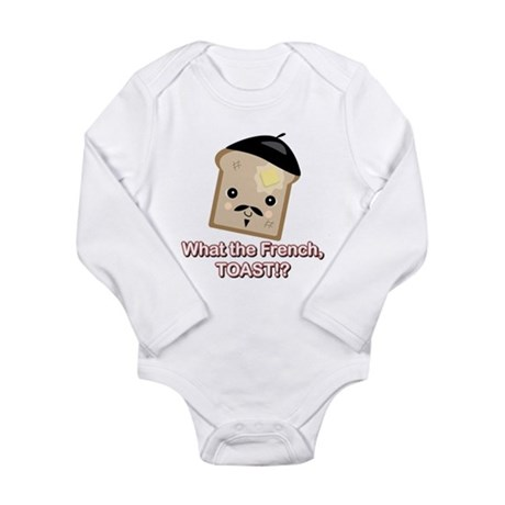 What the French Toast Kawaii Long Sleeve Infant Bo