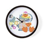Cute Garden Time Baby Ducks Wall Clock