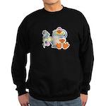 Cute Garden Time Baby Ducks Sweatshirt (dark)