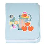 Cute Garden Time Baby Ducks Infant Blanket